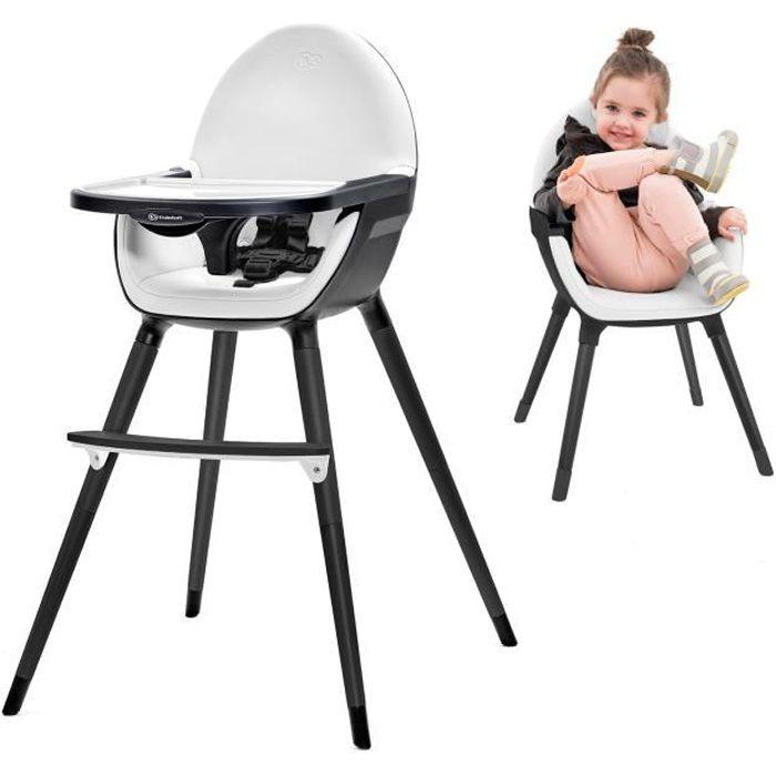 Kinderkraft Fini Chaise Haute Bebe 2en1 Noir Blanc