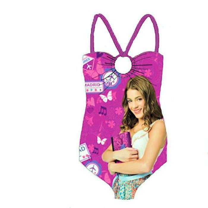 Disney maillot de bain violet violetta 1 pi ce pour fille - Jeux de fille de violetta ...