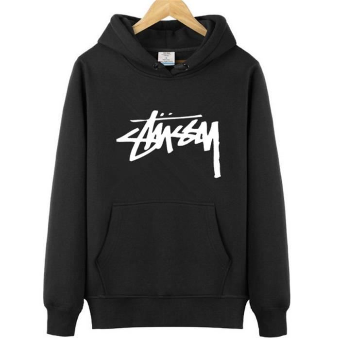 aa6cf2c83e STUSSY Sweat-shirt homme Pullover homme Hoodies a capuche manche ...