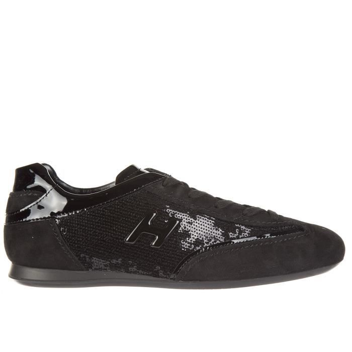 Chaussures baskets sneakers femme in camoscio olympia h metallo Hogan