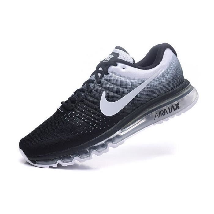 huge selection of ade44 77fd2 NIKE Airmax 2017 Homme Basket Running Chaussures Noir et Blanc 849559-010
