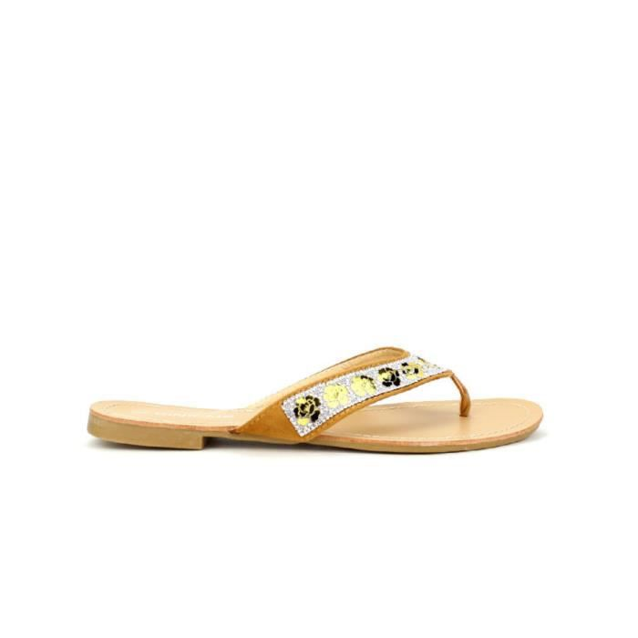 tong, Tongs Beige Chaussures Femme, Cendriyon