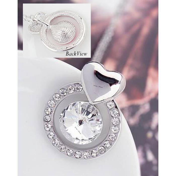Cadeaux Saint-Valentin des femmes Cristaux spéciales Timeless Treasure Collier Swarovski Pendentif pour -. NN5F6