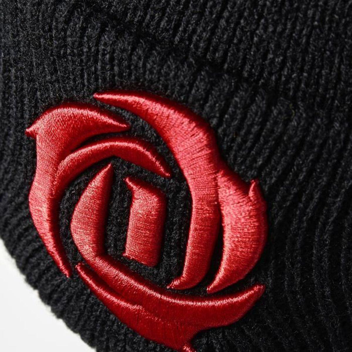 best loved b8632 85123 Bonnet adidas D Rose - noir-noir-rouge foncé - M - Prix pas cher - Cdiscount