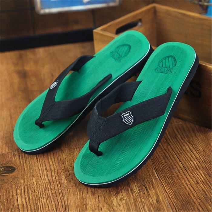 Chaussure De Luxe Tongs Homme Ete Haut Qualité Pantoufle Salle De Bain Sandals Hommes De Marque Chaussures Sandales Plus