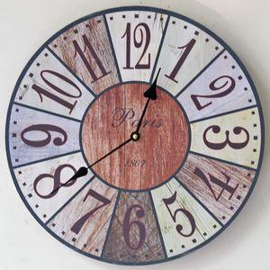horloge murale silencieuse en bois achat vente horloge murale