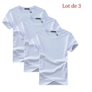 41e3f025b246 T-SHIRT Lot de 3 T shirt Homme Encolure Arrondie T Shit Ho