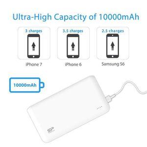 BATTERIE EXTERNE Batterie externe Power bank 10000 mAh avec 2 Sorti