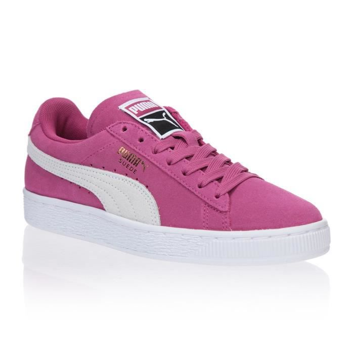CHAUSSURES BASKETS PUMA femme Suede Bow Wn's taille Rose