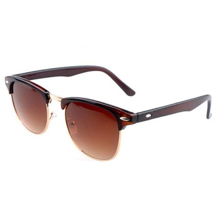 Nouveau rétro vintage Womens Mens designer surdimensionné lunettes de soleil  verres Brune 8420a47a4fba