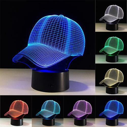 Table Pour Lampes Lampe Chapeau Lumière Bureau Décoration Jouets 3d Tactile Cadeaux Usb Football Nuit Led Enfant Couleurs De 7 Lc4A3jq5R