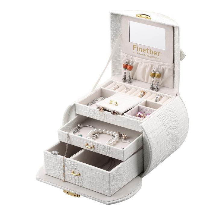 boite bijoux achat vente pas cher soldes d s le 10 janvier cdiscount. Black Bedroom Furniture Sets. Home Design Ideas