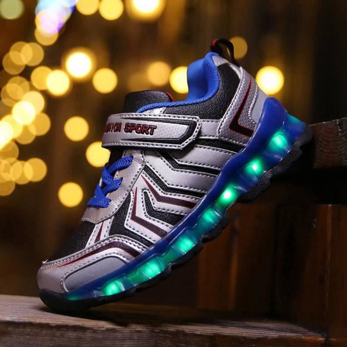 New Kids Sneakers mode lumineux coloré LED lumières enfants Chaussures Casual Flat Boy Girl USB charge chaussures