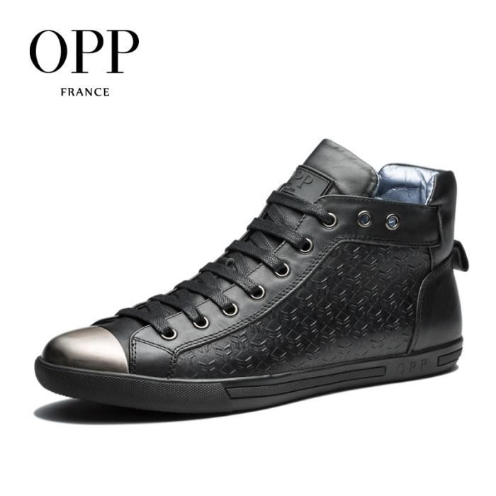 OPP Classics - Bottine Chelsea en cuir - Homme OC173103noir45