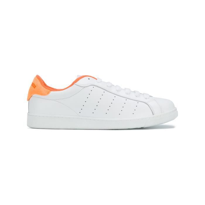 BASKETS SNM040306500286M635 CUIR BLANC HOMME DSQUARED2 n6Rq4Yp