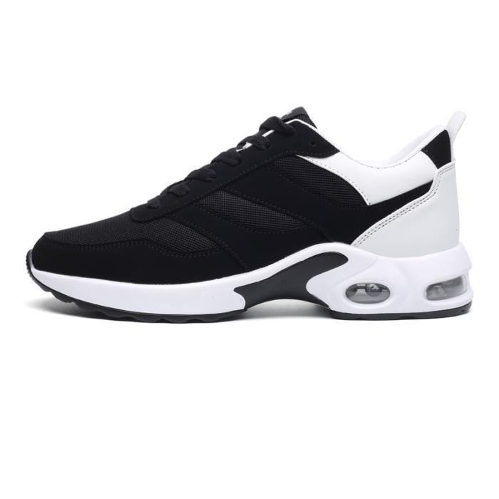 KIANII® Basket Homme Chaussures De Course Run Masculines Respirante Air Sport Chaussures Noir