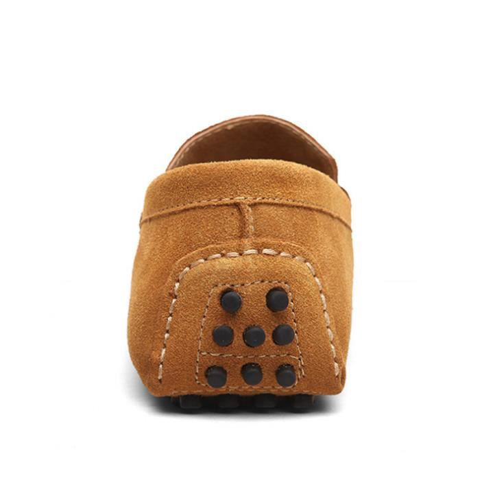 Appartements Hommes Mocassins Mocassins Comfortable CHT Ultra Chaussures Hommes Cuir XZ071Jaune39 gqY1AWnRR
