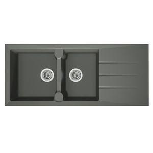 evier 1 bac gris achat vente evier 1 bac gris pas cher. Black Bedroom Furniture Sets. Home Design Ideas