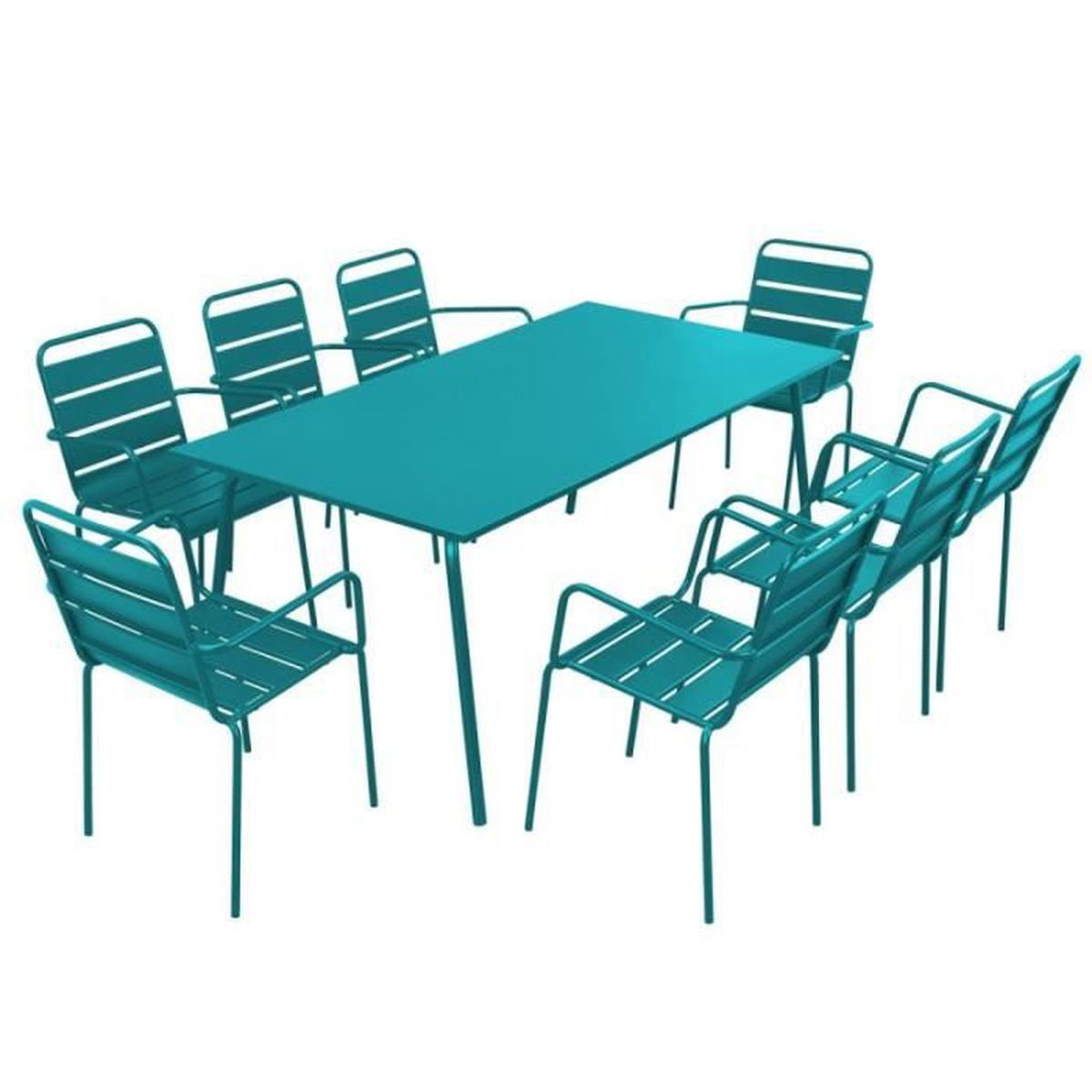 Salon de jardin design en acier - Ensemble de jardin table et ...