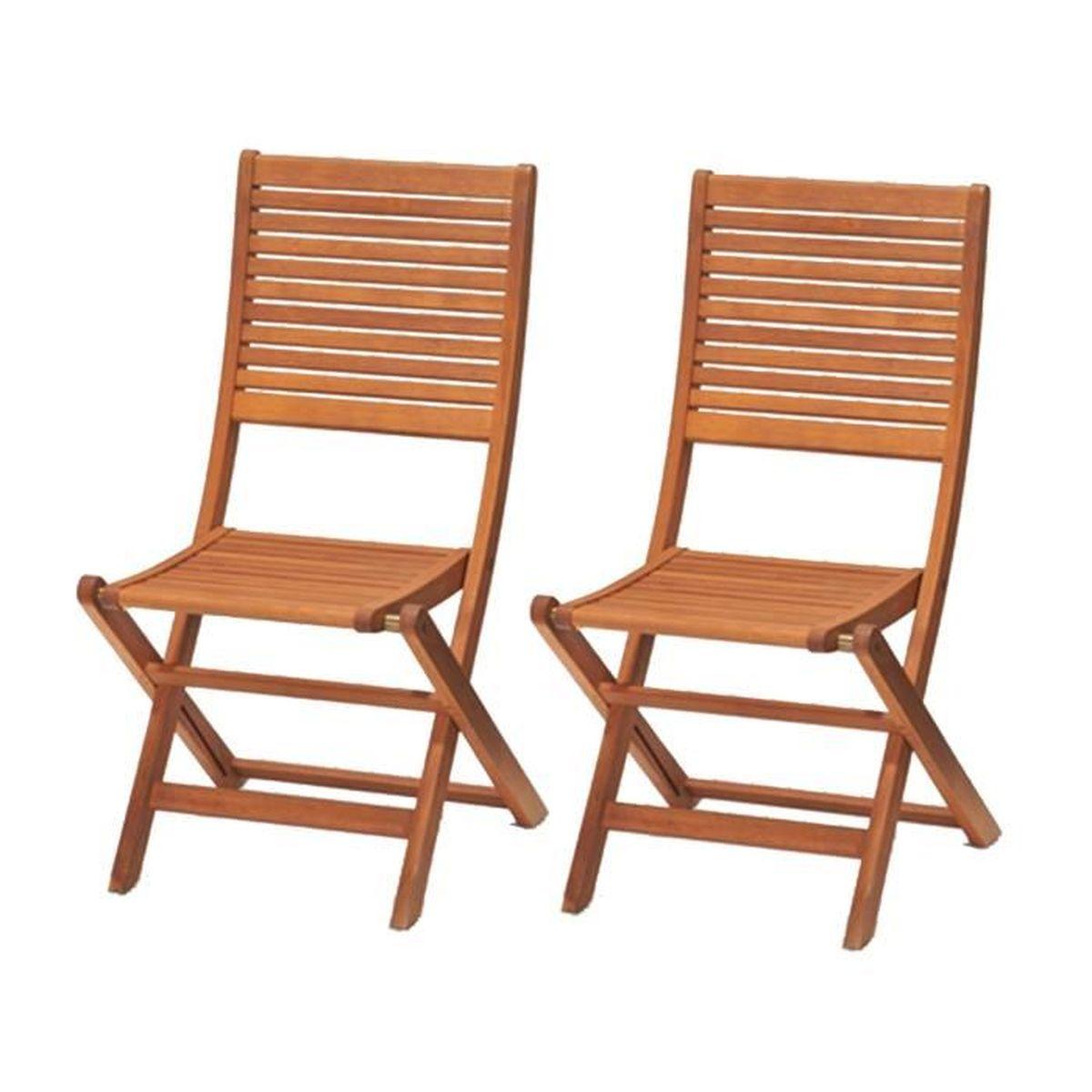 chaise kingsbury 2 chaises pliables bois deucalyptus 5 - Chaises Pliables