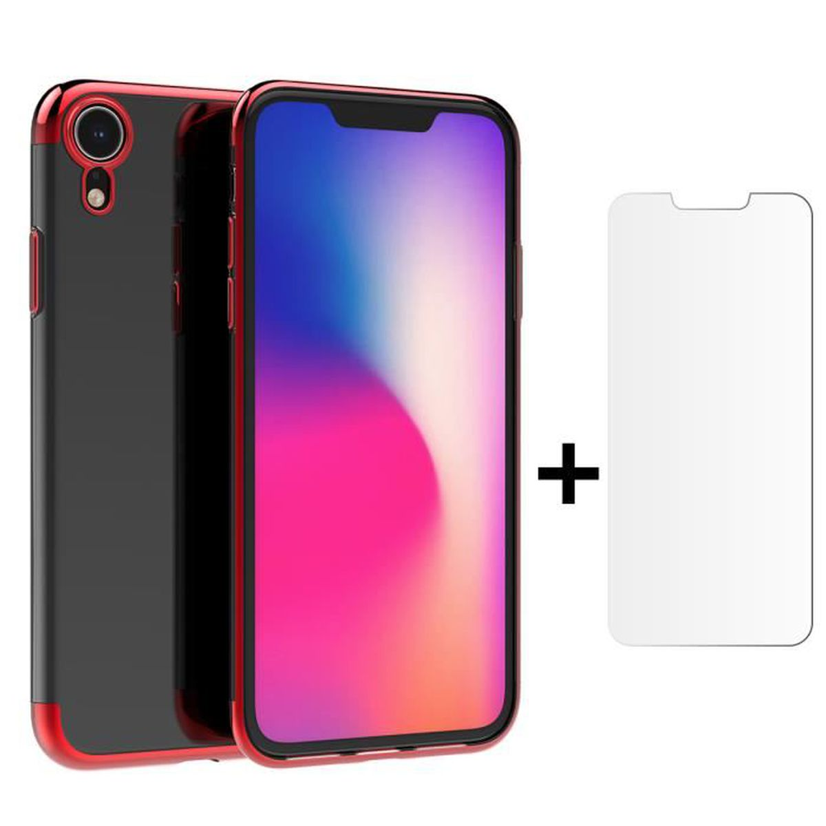 coque iphone xr bumper rouge