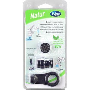 WPRO AER200 Kit 2 mousseurs reducteurs de débit + 1 t?te - réduction 5litres/min constants, pour robinet femelles,