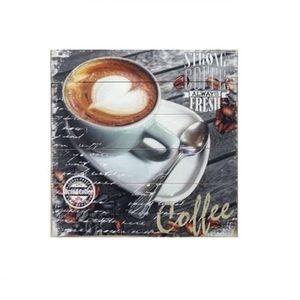 TABLEAU - TOILE Cadre - tableau bois Café - 40 x 40 cm