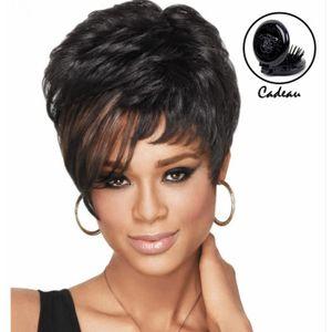 Perruque femme cheveux naturel court - Achat