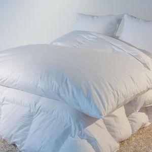COUVERTURE - PLAID Édredon naturel Eco 200x170 cm blanc 30% duvet neu