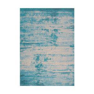 TAPIS Tapis vintage avec motif jacquard turquoise 160x23