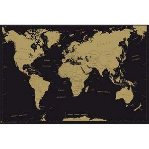 carte du monde avec pays achat vente carte du monde avec pays pas cher cdiscount. Black Bedroom Furniture Sets. Home Design Ideas