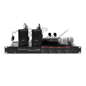 ENCEINTE ET RETOUR Micro VHF Quattro MHL Gr3 2 Mains 2 Serre Tete Boo