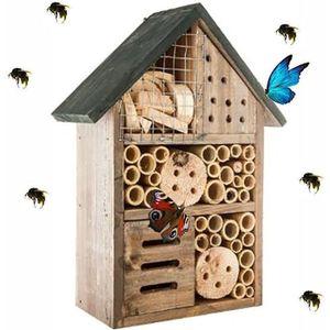 PERLE - BILLE - GRAVIER Hôtel à Insectes - abri refuge nichoir maison abei