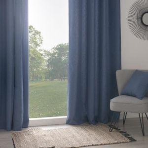 rideau bleu gris achat vente pas cher. Black Bedroom Furniture Sets. Home Design Ideas
