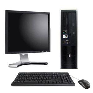 UNITÉ CENTRALE + ÉCRAN PC de bureau - HP Compaq DC5850 Format SFF 2,6Ghz