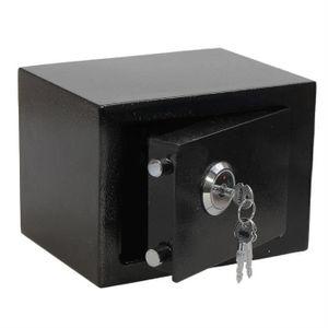 COFFRE FORT Petit Coffre-fort Boîte De Sécurité Noir 170x170x2