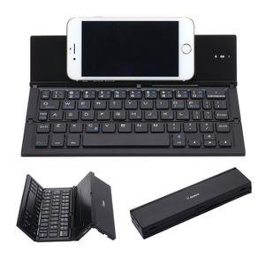 Clavier pour téléphone Clavier Bluetooth Pliable Mini Métallique Portable