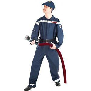 DÉGUISEMENT - PANOPLIE Déguisement de pompier pour adulte comprenant : un