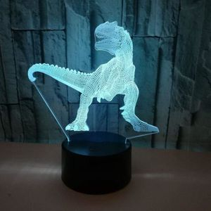 LAMPE A POSER 3D Lampe Dinosaure LED optique Illusion 7 farbwech