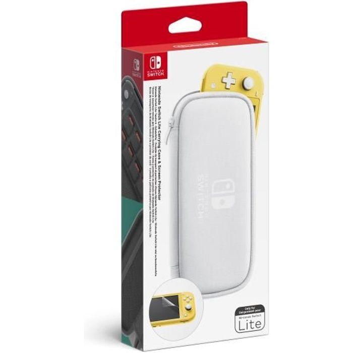 Pochette de transport et protection d'écran Nintendo Switch Lite
