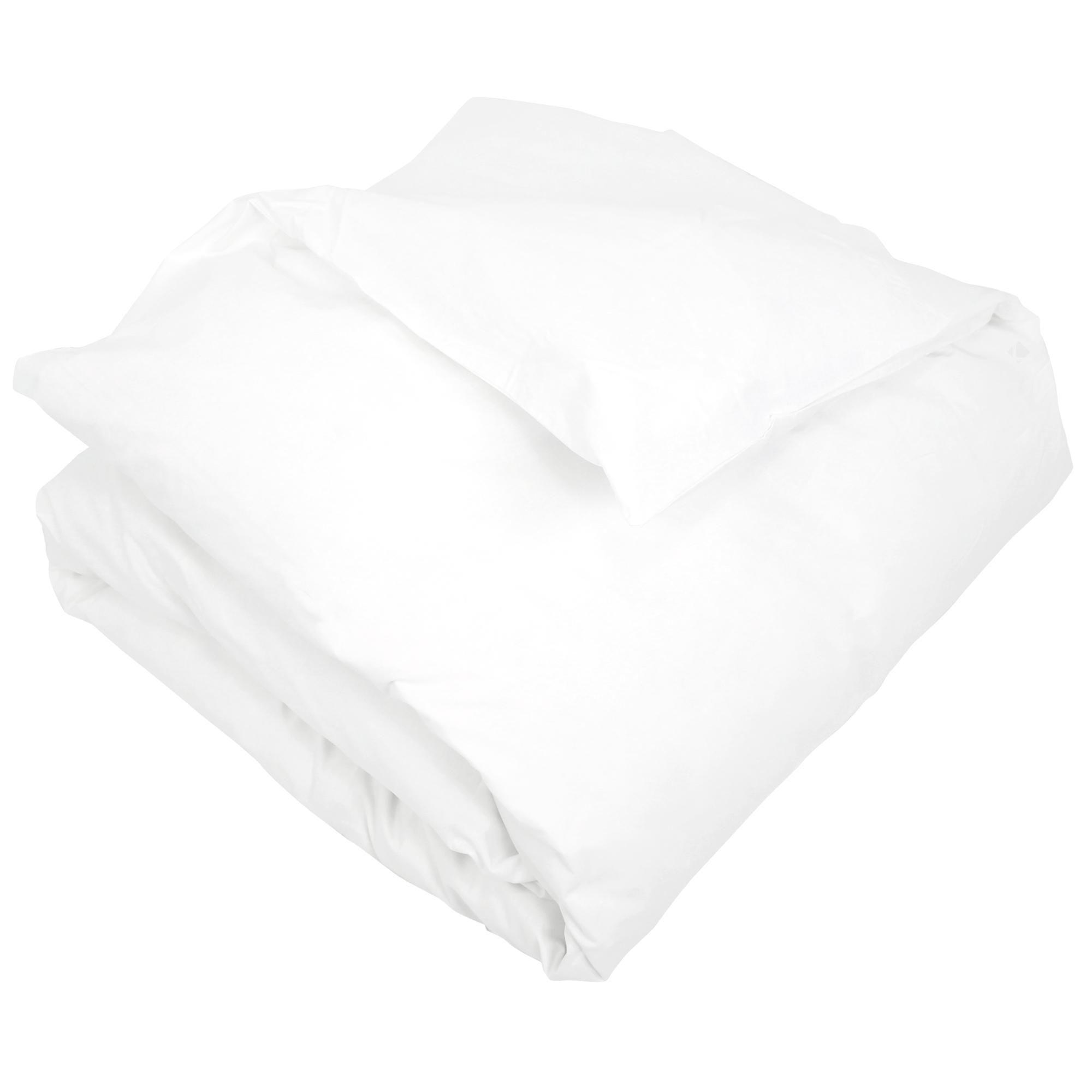 housse de couette coton percale 200x200 blanc achat. Black Bedroom Furniture Sets. Home Design Ideas