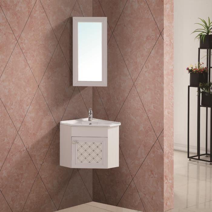 Meuble de salle de bain d angle avec le miroir - Achat / Vente pas cher