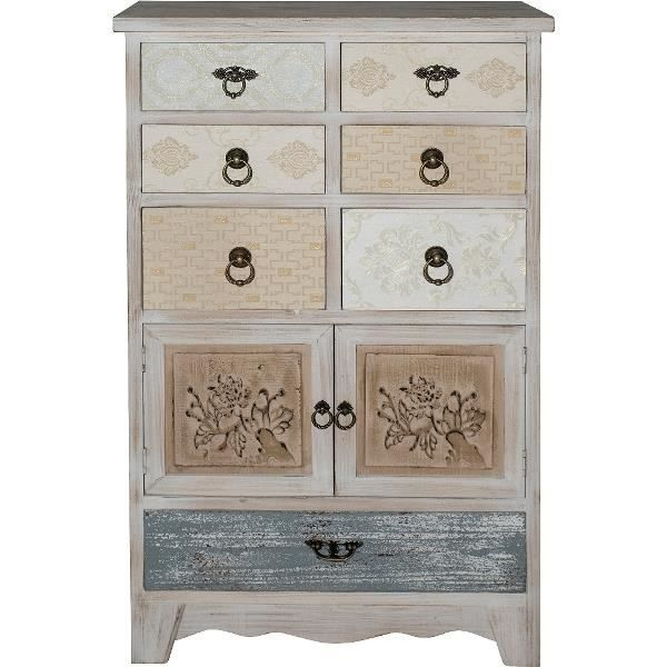 Casa Padrino Country Style Shabby Chic Commode Antique Blanc