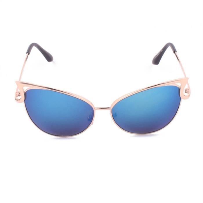 Femme Lunettes de Soleil Yeux de Chat Bleu - Achat   Vente lunettes ... 572e61a7fcce