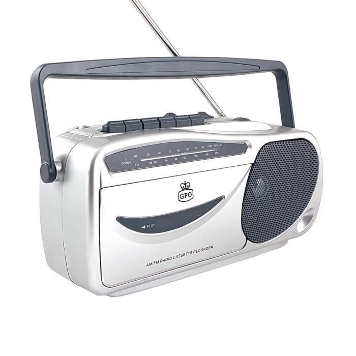 Gpo 9401 Radio Am / Fm Portable Rétro Et Lecteur De Cassettes