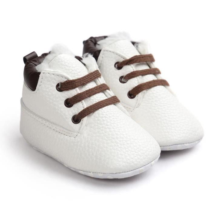 bébé enfant en bas âge semelle souple chaussures en cuir bébé garçon chaussures fille tout-petits 11-12CM