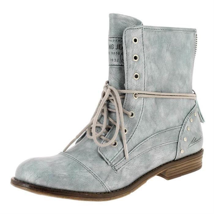 Bottines   low boots 1157551 femme mustang 1157551 Bleu Bleu - Achat ... 62fd19f3cbbd