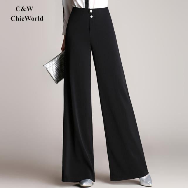 pantalon femme taille haute large achat vente pantalon femme taille haute large pas cher. Black Bedroom Furniture Sets. Home Design Ideas