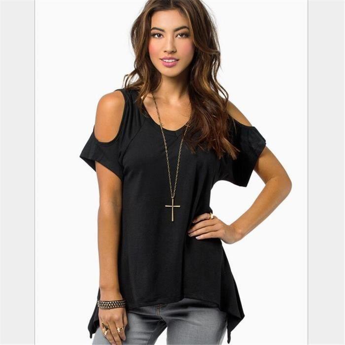 t shirt femme achat vente t shirt femme pas cher. Black Bedroom Furniture Sets. Home Design Ideas