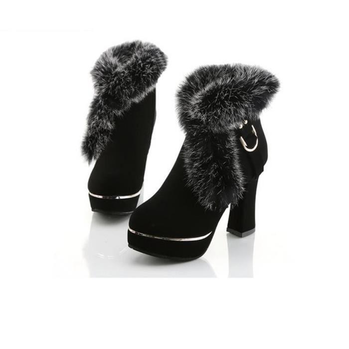 Hommes Hiver Cuir Chaud Neige Cool Sneakers Angleterre Zip Chaussures  Bottines Noir PO58 Noir Noir - Achat   Vente bottine - Soldes  dès le 27  juin ! e48dbe6aafca